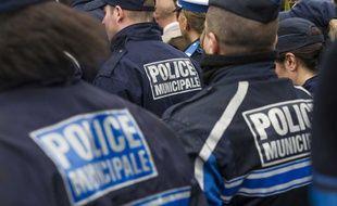 Des policiers municipales, le 20 mai 2013 à Villiers-Sur-Marne