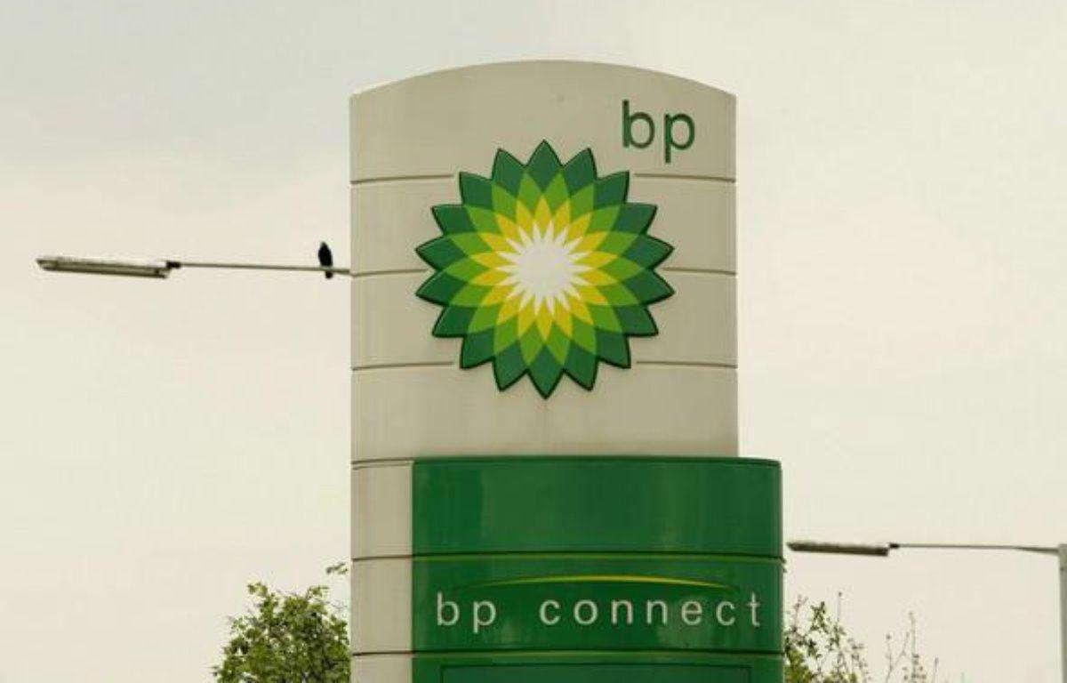Le logo du géant pétrolier British Petroleum.  – M. Dunham/AP/SIPA