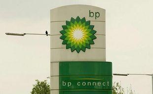 Le logo du géant pétrolier British Petroleum.