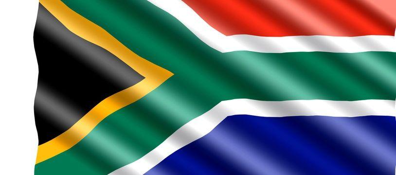 Illustration du drapeau de l'Afrique du Sud.