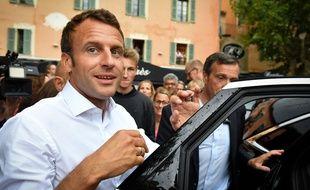 Emmanuel Macron à Bormes-les-Mimosas, le 27 juillet 2019