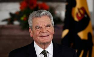 Le président allemand Joachim Gauck à Berlin le 22 décembre 2015