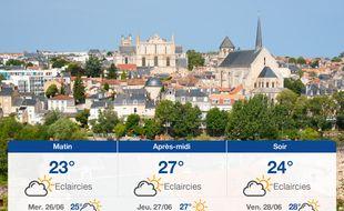 Météo Poitiers: Prévisions du mardi 25 juin 2019