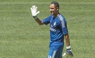 Keylor Navas lors de sa présentation au Real Madrid le 5 août 2014.