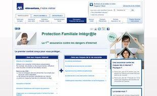 Le programme «protection familiale intégr@le» lancé par Axa en 2012 pour couvrir l'e-réputation.