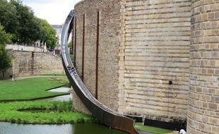 Le toboggan éphémère du Voyage à Nantes.