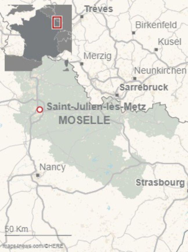 Les poubelles de Saint-Julien-lès-Metz (Moselle) débordent des détritus des autres communes du département.