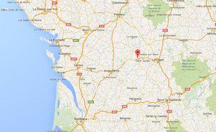 Le village d'Etagnac, en Charente.