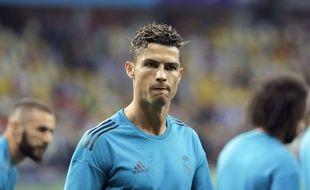 Ronaldo avant la finale de la Ligue des champions entre le Real Madrid et Liverpool, le 26 mai 2018.