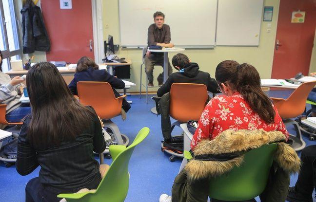 Une classe de troisième au collège Erasme à Hautepierre (Strasbourg) le 29 janvier 2018. Expérimentation espace pédagogique.