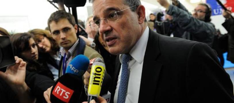 Thierry Mariani, le 19 novembre 2012 au siège de l'UMP.