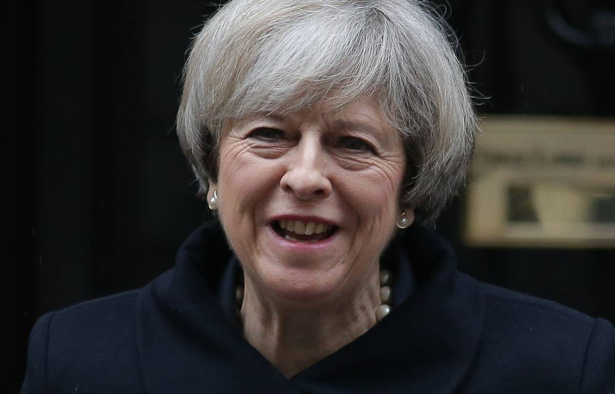 Theresa May quittant le 10, Downing Street.  – DANIEL LEAL-OLIVAS / AFP