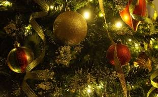 Illustration de guirlandes de Noël.