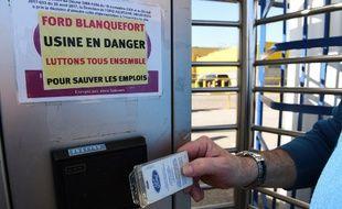 Illustration de l'usine de Blanquefort en Gironde, mobilisée pour éviter la fermeture.