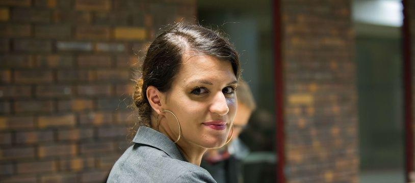 Marlène Schiappa, le 9 novembre, dans une structure d'accueil pour les femmes victimes de violences conjugales.