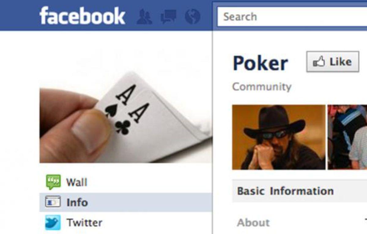 Facebook veut jouer poker pour du vrai... – Capture d'écran Facebook