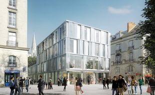 Le bâtiment qui doit être érigé square Fleuriot.