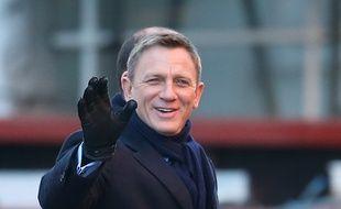 L'acteur Daniel Craig sur le tournage de Spectre à Londres