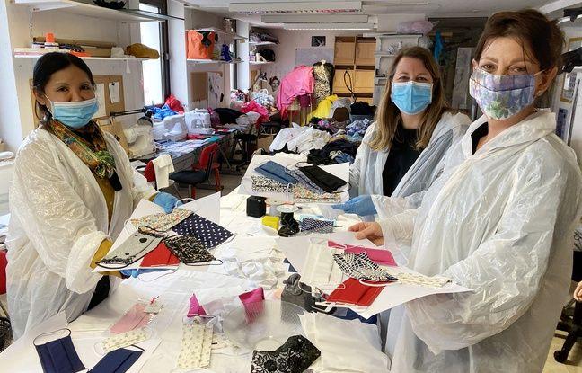 Aline Buffet et ses associées créent des masques personnalisés