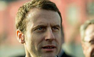 Le ministre de l'Economie Emmanuel Macron, le 15 février 2016, à Roubaix
