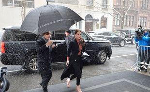 La styliste Jessica Mulroney, meilleure amie de Meghan Markle, arrivant à la baby shower de la duchesse de Sussex à New York en 2019