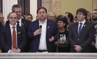 Le vice-président catalan destitué Oriol Junqueras