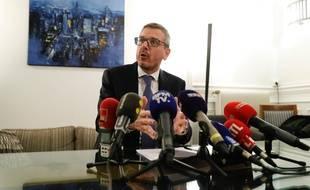 L'avocat des policiers mis en cause, Thibault de Montbrial, tient une conférence de presse mercredi 8 janvier.