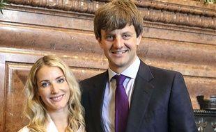 Ernst-Auguste de Hanovre et Ekaterina Malysheva lors du mariage civile le 7 juillet 2017