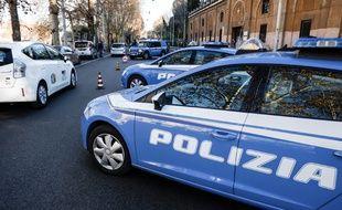 Image d'illustration de la police italienne à Rome, le 24 décembre 2016.