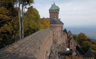 Le château du Haut-Koenigsbourg, où la Dame blanche apparaît chaque année au soir de la Saint-Sylvestre.