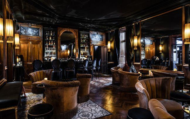 Le bar du château de Maubreuil.