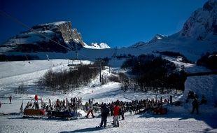 Illustration d'une station de ski