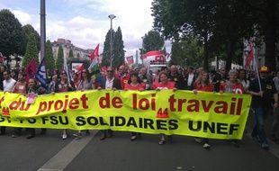 Le début du cortège de la manifestation contre la loi Travail.