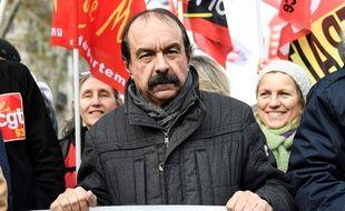 Le leader de la CGT, Philippe Martinez, lors de la manifestation du 10 décembre 2019 à Paris. Bertrand GUAY / AFP.