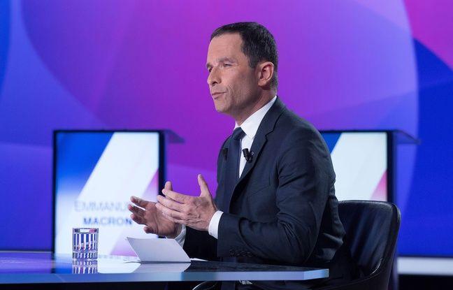 Benoît Hamon sur le plateau de France 2, le 20 avril 2017