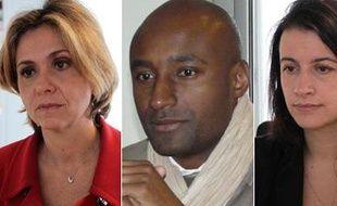 Valérie Pécresse (UMP), Alain Dolium (MoDem), Cécile Duflot (Europe Ecologie) et Jean-Paul Huchon (PS), candidats aux régionales 2010 en Ile-de-France.