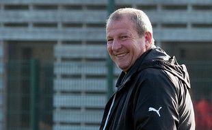 L'entraîneur du Stade Rennais Rolland Courbis, jamais avare de bons mots.