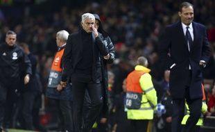José Mourinho lors de Manchester United-Juventus en Ligue des champions, le 23 octobre 2018.