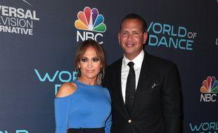 La chanteuse et actrice Jennifer Lopez et l'ancien champion de baseball Alex Rodriguez