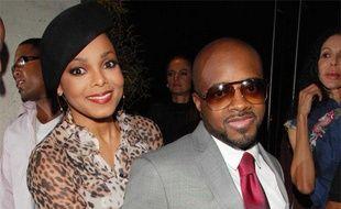 Janet Jackson et Jermaine Dupri, lors de la soirée d'anniversaire de ce dernier, à New York, le 23 septembre 2008.