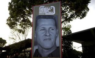 Un portrait de Michael Schumacher à Shanghai, le 11 avril 2019.