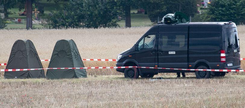 Des recherches pour trouver le corps de Maddie McCann, en Allemagne le 28 juillet 2020.