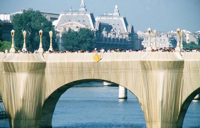 Le Pont neuf emballé par l'artiste Christo