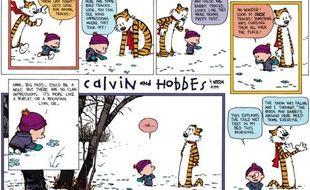 Une planche de la série «Calvin et Hobbes», de Bill Watterson.