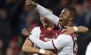 L'attaquant du FC Metz Modibo Maïga, le 21 novembre 2014, contre le PSG.