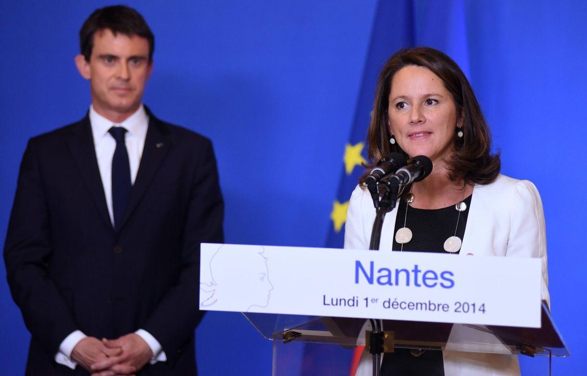 Manuel Valls, ancien Premier ministre, et Johanna Rolland, maire de Nantes et présidente de Nantes métropole – S.Salom-Gomis/ Sipa
