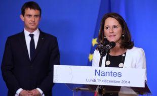 Manuel Valls, Premier ministre, et Johanna Rolland, maire de Nantes.