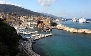La ville de Bastia en Corse photographiée le 12 mai 2013.