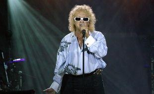 Le chanteur Michel Polnareff en concert à Paris en 2007