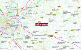 Le drame est survenu sur la commune du Landreau, au sud-est de Nantes.